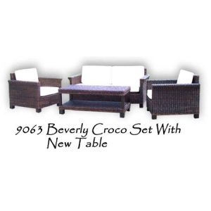 Beverly Croco Woven Living Set