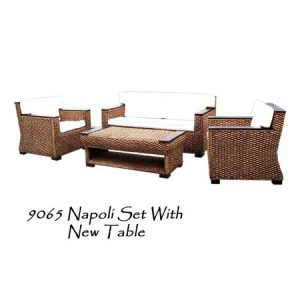 Napoli Wicker Living Set with New Table