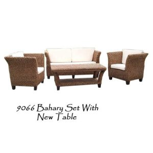 Bahary Wicker Living Set with New Table