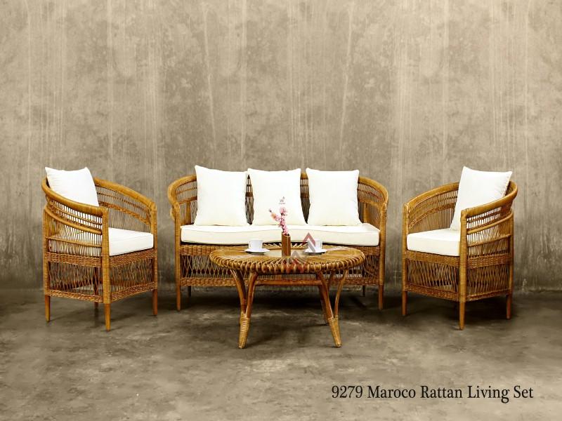Maroco Rattan Living Set | Indonesia Rattan Furniture ...