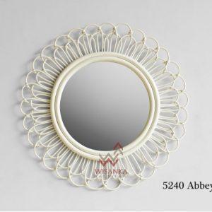 Abbey Rattan Mirror