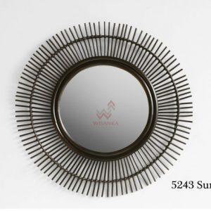 Surya Rattan Mirror