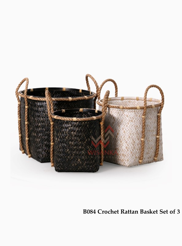Crochet-rattan-Basket