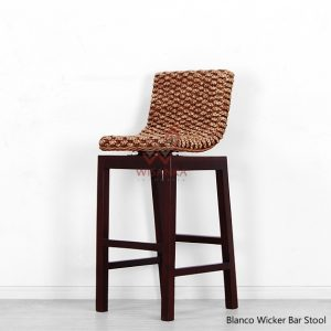 Blanco Wicker Bar Stool