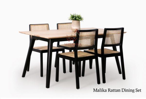 Malika Rattan Dining Set