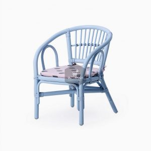 Jimmy Rattan Kids Chair Blue