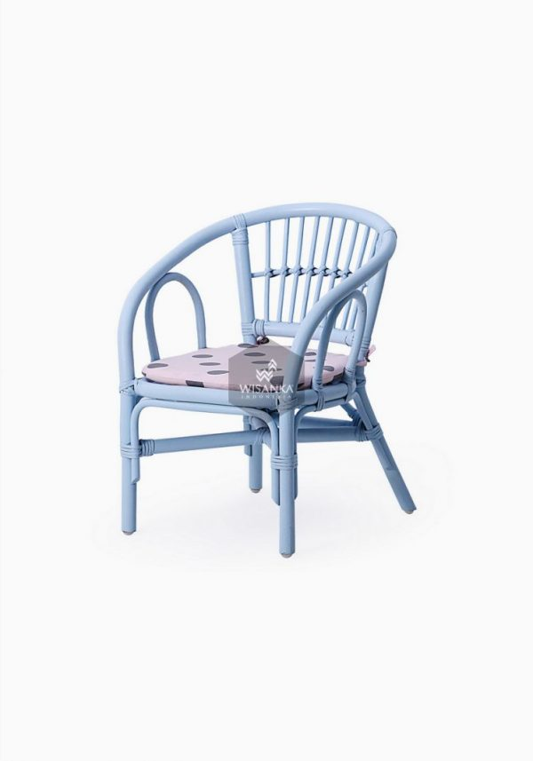 Jimmy Rattan Kids Chair Blue
