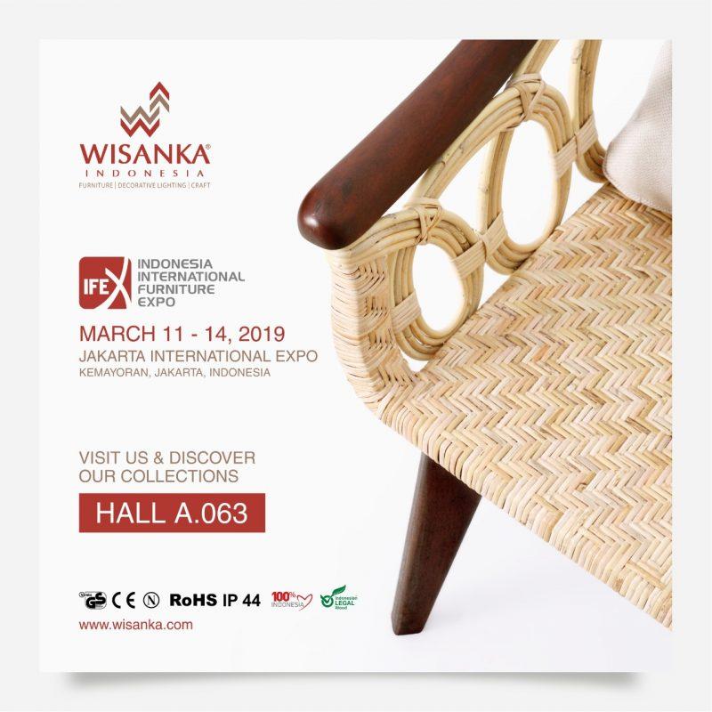 Wisanka Indonesia IFEX 2019 Indoor Teak Rattan Furniture