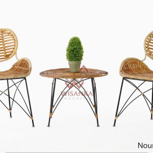 Noura Rattan DC With Chloe Rattan Table