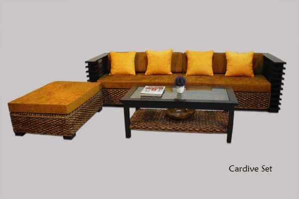 Cardive Wicker Living Set