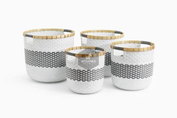 Fara Wikcer Basket Set of 4