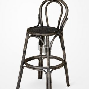 Cufie Rattan Bar Stool Black