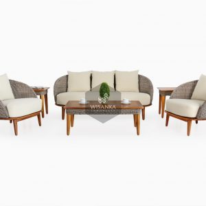 Malvin Rattan Living Set