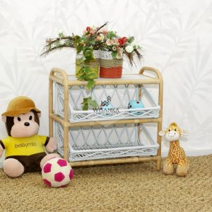 Kia Rattan Kids Shelf