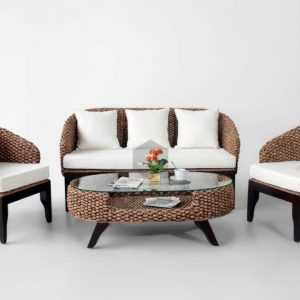 Arya Wicker Living Set