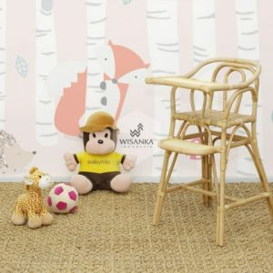 Ying Rattan Baby High Chair