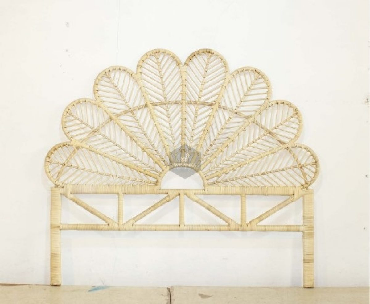 Butterfly Rattan Headboard King Indonesia Rattan Furniture Wicker Furniture Rattan Kids Furniture