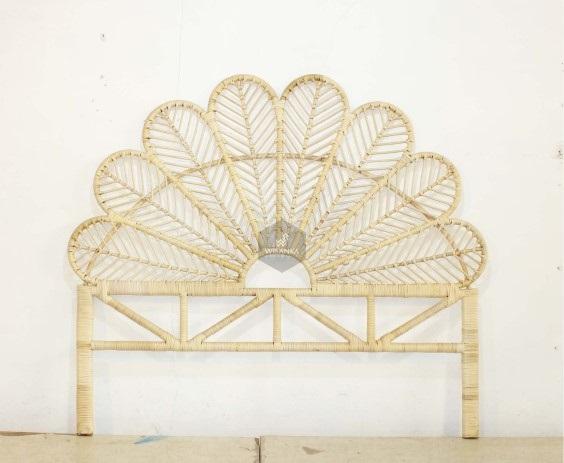 Butterfly Rattan Headboard King Size