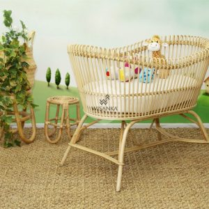 Dundee Rattan Bassinet Natural