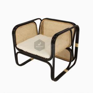 Fanie Rattan Chair Black