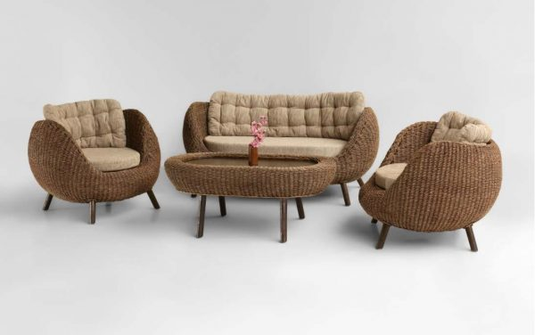 Pearl Rattan Living Set