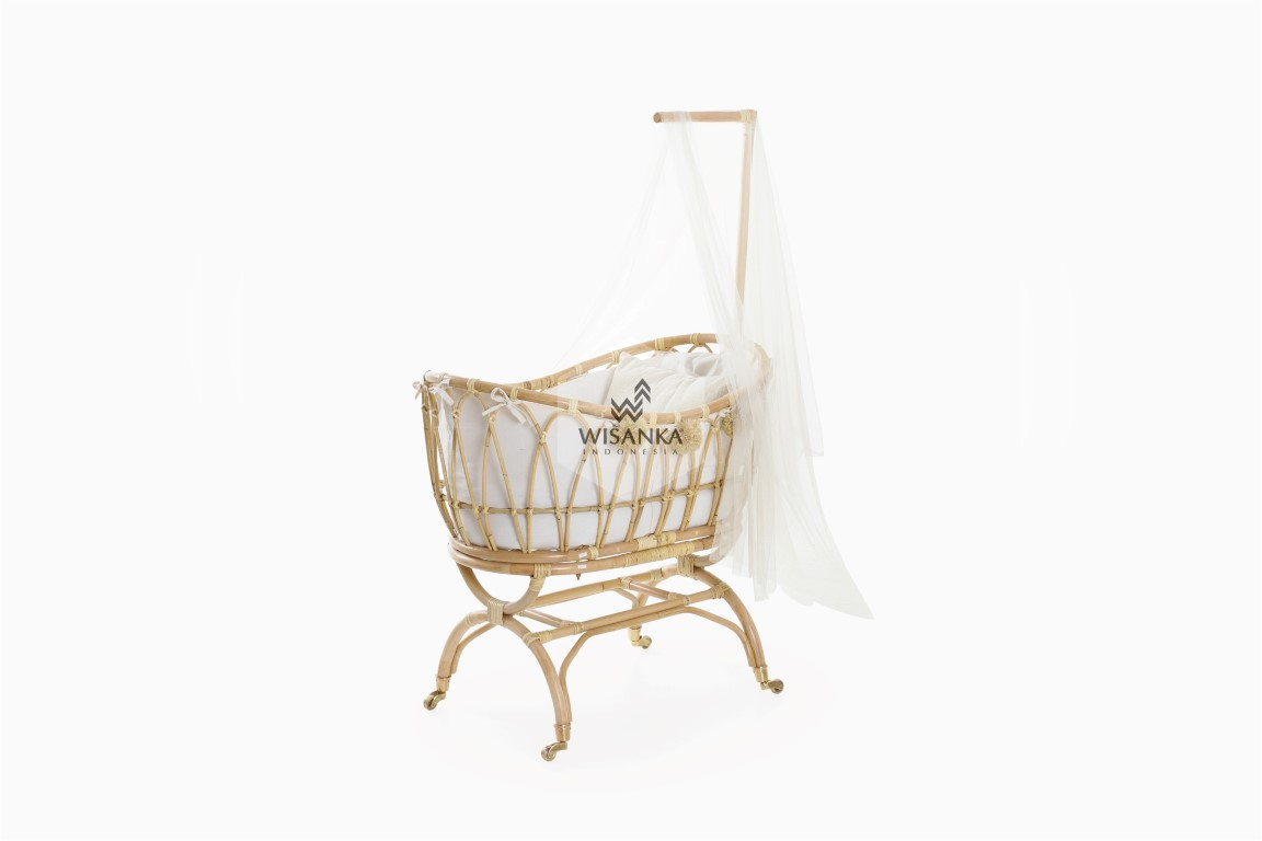 Lomy Rattan Baby Crib Indonesia
