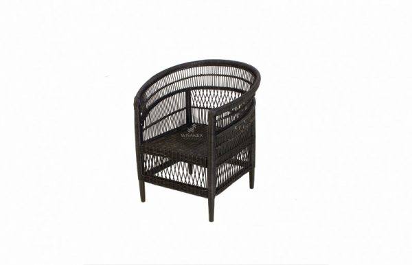 Morroco Rattan Arm Chair Black