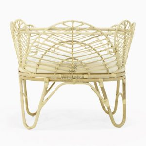 Nada Rattan Baby Crib Natural