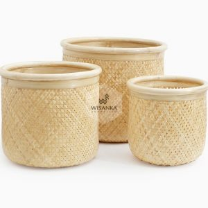 Fresia Round Wicker Basket