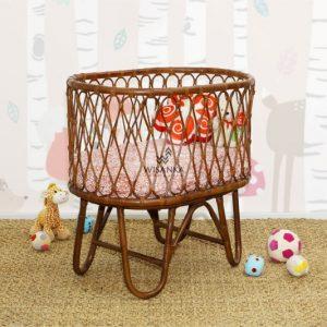 Ovalia Rattan Baby Bassinet